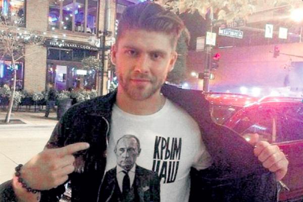 Еще одного русского хоккеиста оскорбили в США за футболку «Крым наш»