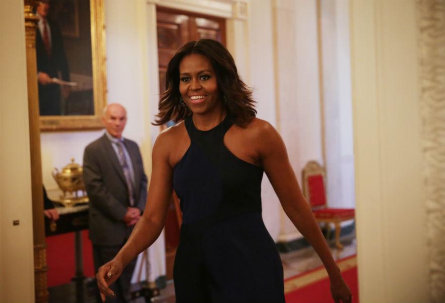 Мишель Обама надела платье украинского дизайнера