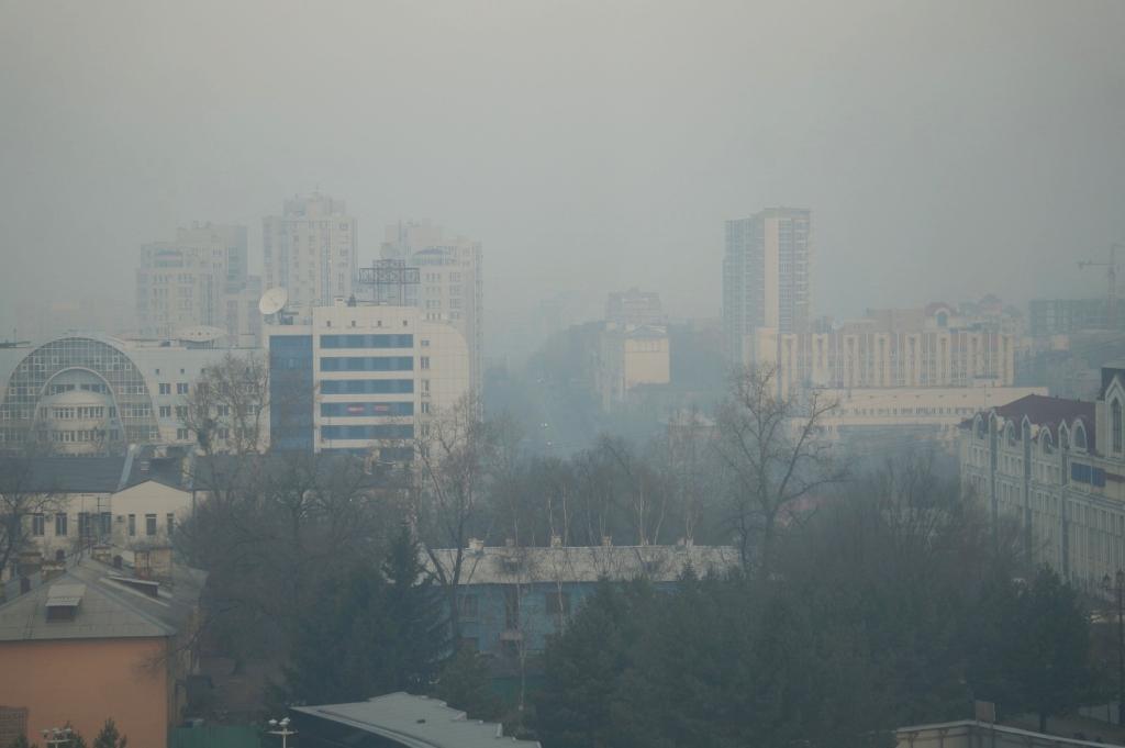 Хабаровск накрыл смог от лесных пожаров