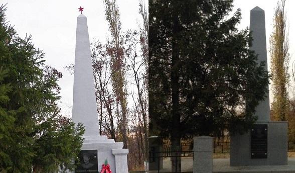 Воронежские власти убирают с братских могил красные звезды