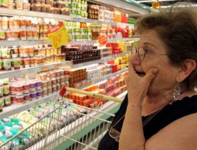 Цены на продукты в России растут, в Европе падают