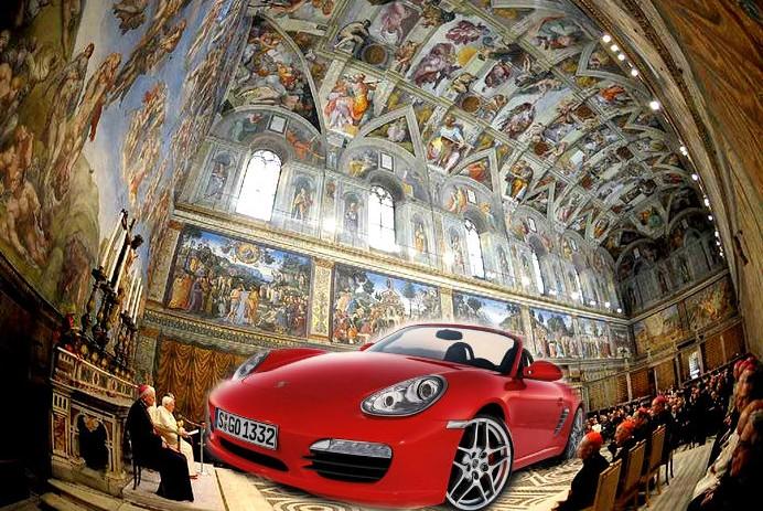 Корпоратив Porsche пройдет в Сикстинской капелле