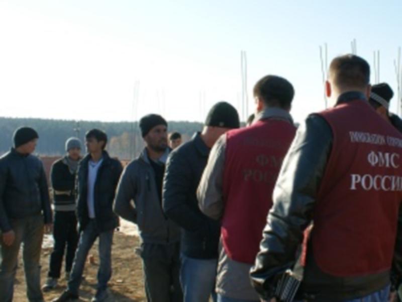 На одной из иркутских строек задержали 40 нелегалов