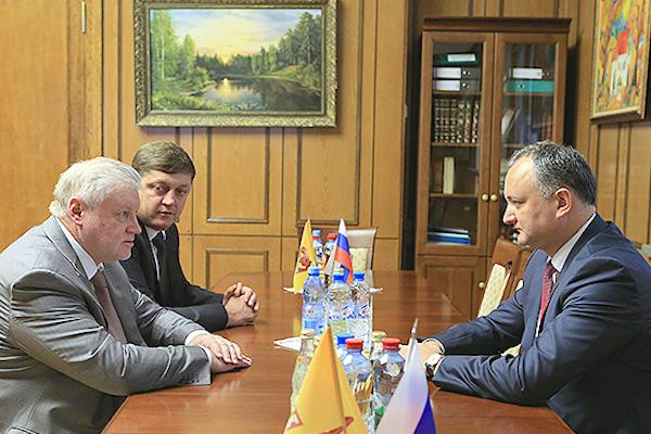 В Госдуме прошла встреча Сергея Миронова и лидера социалистов Молдавии Игоря Додона