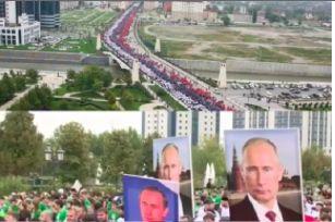 В Грозном Путина поздравили мировым рекордом