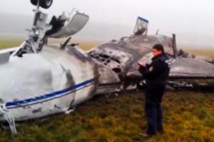 Самолет, взорвавшийся после столкновения со снегоуборщиком во Внуково