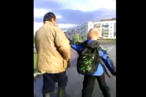 В Киселевске бомж побил школьника - хулигана