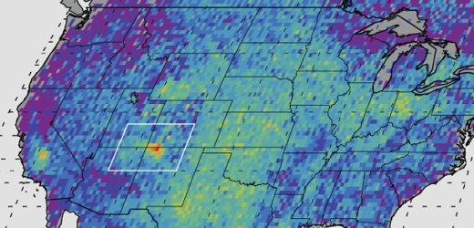 Спутники НАСА обнаружили гигантские выбросы метана в зоне добычи сланцевого газа в США