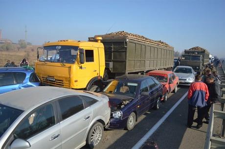 Авария на трассе Дон - столкнулось 50 машин