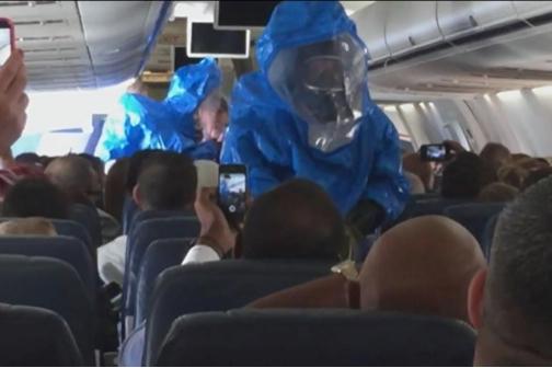 Пассажир рейса US Airways в шутку заявил, что болен вирусом Эбола