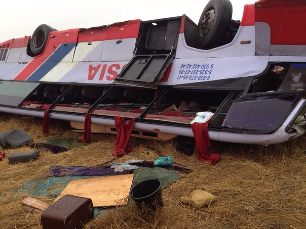 Количество пострадавших в ДТП с автобусом «Воронеж-Дербент» выросло вдвое