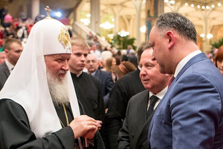 Патриарх Кирилл благословил лидера социалистов Молдавии Игоря Додона