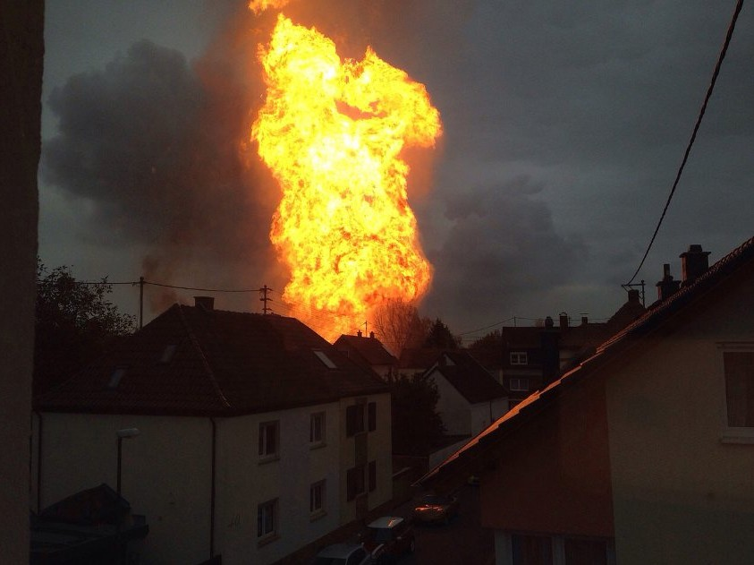 В Германии произошел мощный взрыв газа