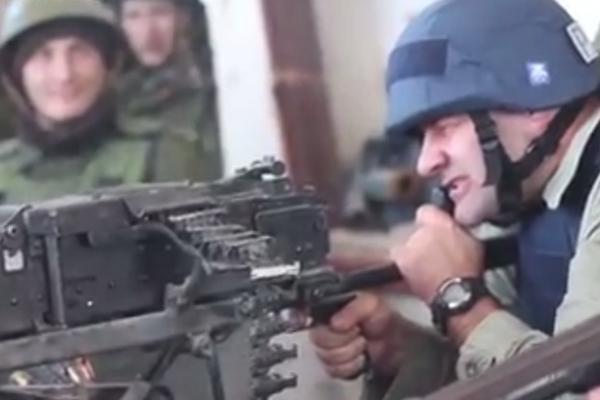 Пореченков в Донецке обстрелял украинцев из пулемета