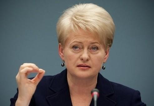 Грибаускайте: Россия - хищный сосед с залитыми кровью руками