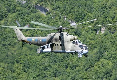 В Карабахе сбили военный вертолет Ми-24