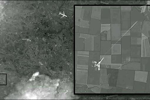 Появились фотоснимики атаки истребителя на малайзийский боинг
