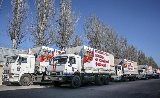 Границу Украины и России пересек шестой конвой с гумпомощью