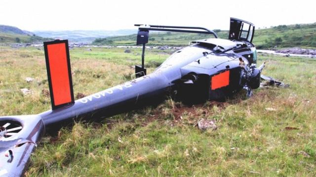 В Нижегородской области упал вертолет