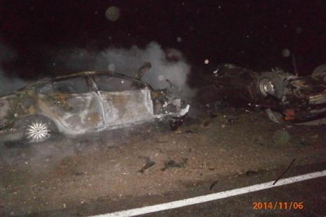 3 человека заживо сгорели в результате ДТП