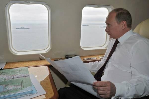 Путин за 9 дней пролетел расстояние, равное длине экватора