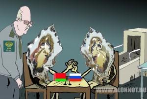 Легализация параллельного импорта остановит контрабанду зарубежных продуктов под видом белорусских. Карикатура Владимира Мочалова