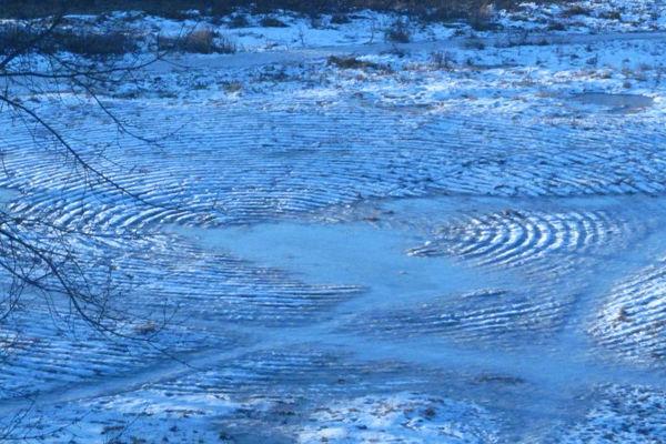 В Пензе нашли следы инопланетян на снегу