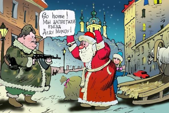 Украинские дети впервые останутся без новогодних подарков