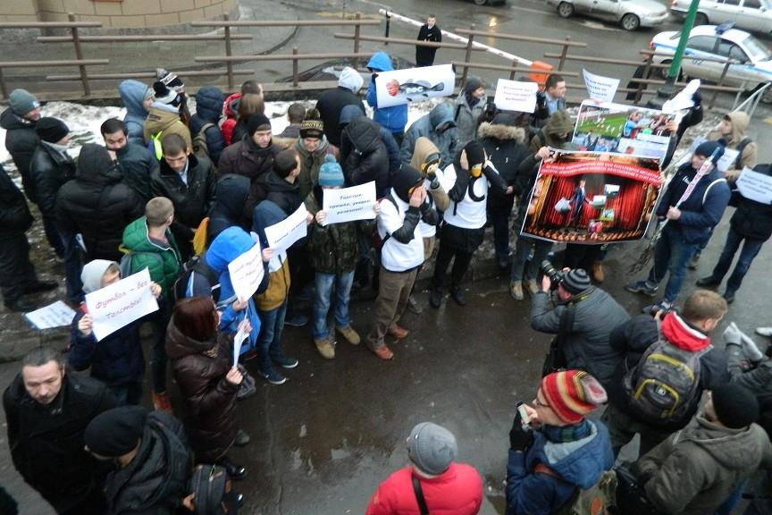 Проплаченные студенты на митинге у РФС оказались провокаторами
