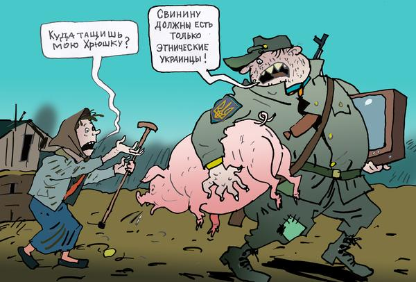«Правый сектор» устроил мародерство в Донбассе