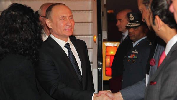 Путин прибыл в Индию