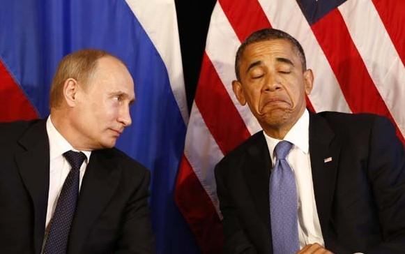 Путин поздравил Обаму с Новым годом и напомнил, что грядет День Победы