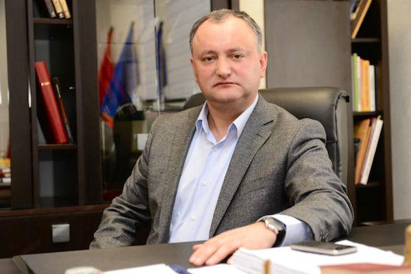 В Молдавии человеком года стал Игорь Додон