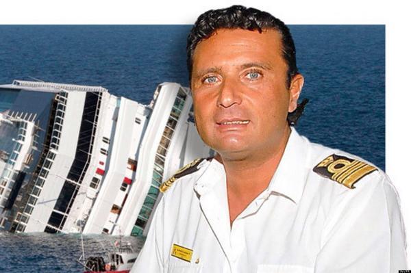 В Интернете появилось видео бегства капитана Скеттино с тонущего лайнера Costa Concordia