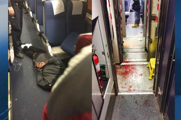 В США пассажир поезда порезал четверых попутчиков