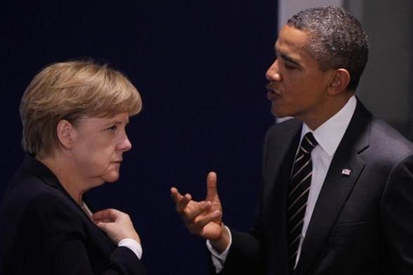Обама отчитал Меркель