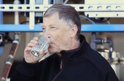 Билл Гейтс попробовал воду из нечистот