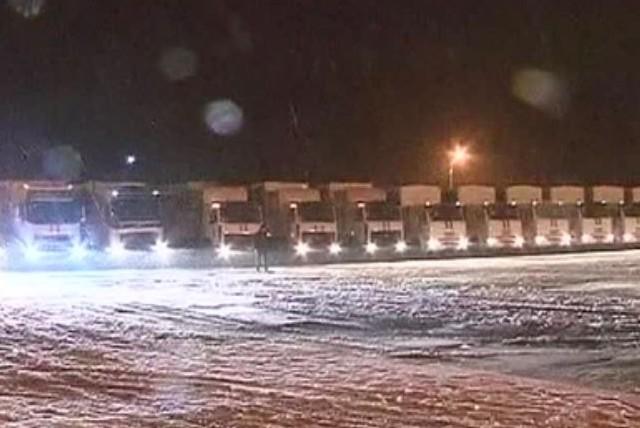 В Ростовскую область прибыли первые машины гумконвоя