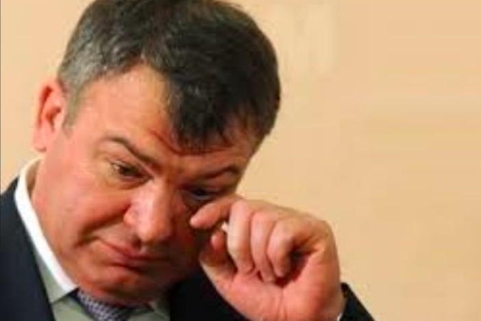 Евгения Васильева «допрашивает» Сердюкова в суде