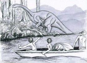 Рисунок Мокеле-Мембе со слов оцевидцев.
