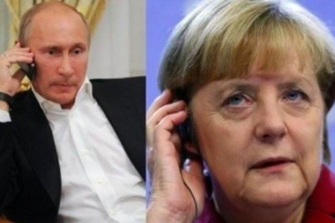 Путин, Меркель и Олланд обсудили обострение ситуации на Украине