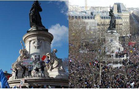 В Париже начался марш в память о жертвах терактов