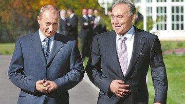 Путин и Назарбаев обсудили способы урегулирования кризиса на Украине