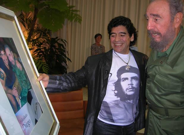 Фидель Кастро написал письмо Марадоне