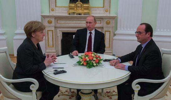 Песков сообщил об итогах переговоров Путина с Меркель и Олландом