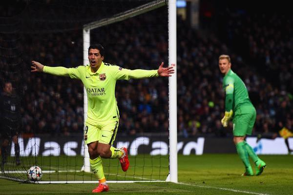Дубль Суареса принес «Барселоне» победу в Манчестере