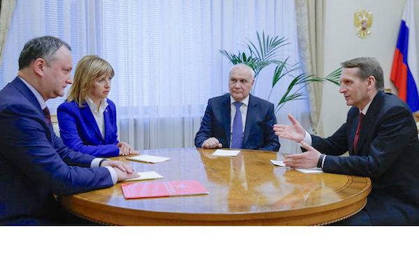 В Госдуме прошла встреча Сергея Нарышкина с Игорем Додоном и Ириной Влах