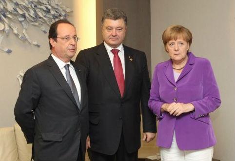 В Киеве началась встреча Порошенко, Олланда и Меркель