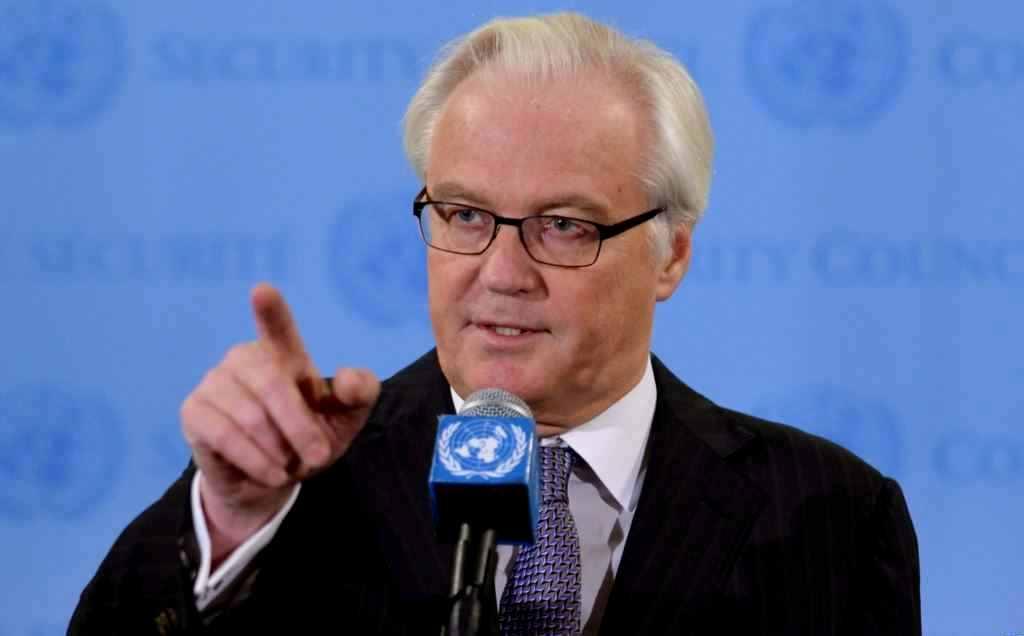 Чуркин осудил Киев за просьбу разместить миротворцев