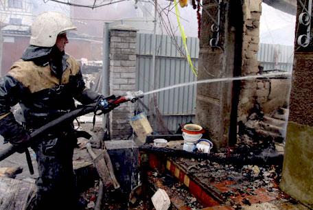 В центре Донецка взорвался снаряд